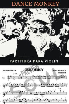 Dance Monkey, tones and I / Violin cover, music sheet Monkey, Sheet Music, Dance, Studio, Words, Link, Cover, Movie Posters, World
