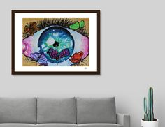 Discover «BUTTERFLIES in my EYEZ», Limited Edition Fine Art Print by Kevin Nodland - From $29 - Curioos