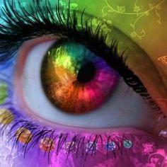 Lyrics- Enya-Only time Rainbow Eyes, Rainbow Colors, Rainbow Stuff, Rasta Colors, Look Into My Eyes, Look At You, Different Colored Eyes, Fantasy Makeup, Fantasy Art