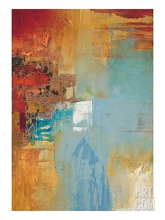 Aqua Illusion 2 Stretched Canvas Print by Gabriela Villarreal at Art.com