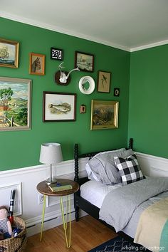 This is One of the Cutest Kid's Bedroom Makeovers We've Ever Seen 5 Design Takeaways From the Charming Makeover of a Child's Bedroom - Whaling City Cottage Boy's Bedroom Makeover Room Makeover, Boys Bedroom Makeover, Green Boys Room, Kids Bedroom Makeover, Home, Bedroom Makeover, Green Rooms, Bedroom Design, Bedroom Green