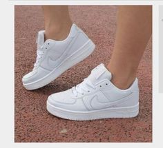 60d7ac1f7314a Women Men Running Sport Casual Shoes Sneakers Air force White