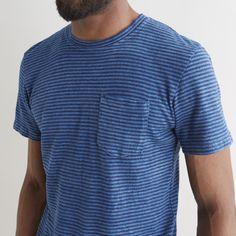 Yard Dyed Pocket Tee Overdye Indigo - Jungmaven - Context Clothing