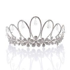 Remedios Floral Design Vintage Couronne mariage tiare strass Reine Princesse Pageant bandeau Diadème avec pendentif Remedios http://www.amazon.fr/dp/B01A5GO5S6/ref=cm_sw_r_pi_dp_wOQVwb1K16AZT