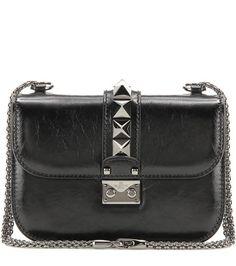 Valentino Valentino Garavani Lock Noir Small Leather Shoulder Bag For Spring-Summer 2017