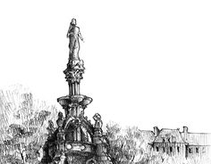 """Check out new work on my @Behance portfolio: """"The Stewart Memorial Fountain"""" http://be.net/gallery/53914251/The-Stewart-Memorial-Fountain"""