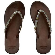 Shell Leather Flip Flop