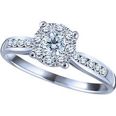 Ben Moss Jewellers Endless Love®  0.36 Carat TW, 10k White Gold Diamond Engagement Ring
