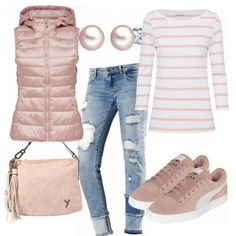 Westenzeit outfit - spring outfits at FrauenOutfits.de Westenzeit ladies outfit - Complete spring outfit at a reasonable price Outfits Damen, Komplette Outfits, Polyvore Outfits, Spring Outfits, Casual Outfits, Fashion Outfits, Womens Fashion, Fashion Trends, Autumn Winter Fashion