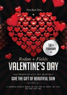 What are you giving your significant other for Valentine's Day? Why not give them the skin they have been wanting? Many women want longer, fuller looking lashes; Lash Boost is your answer! Problems with dark circles? Get your active Hydration Bright Eye Complex! Problems with dry or chapped skin? Try Rodan and Fields' Active Hydration Serum! Why not give them a present that will last?