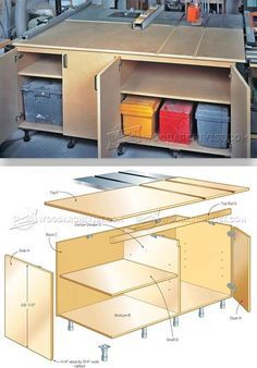 DIY Table Saw Outfeed Table - Table Saw Tips, Jigs and Fixtures | WoodArchivist.com