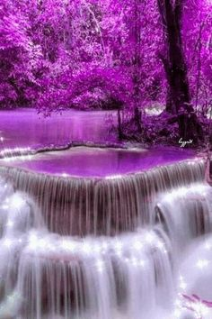 Alex Shaw, Power Feng Shui Expert shares Waterfall of Purple Wealth & Empowerment Beautiful Nature Wallpaper, Beautiful Gif, Beautiful Landscapes, Beautiful World, Simply Beautiful, Beautiful Scenery, Gif Bonito, Beautiful Waterfalls, Nature Pictures