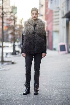 Nothing adds interest quite like a furry vest.