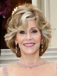 Highlighted Bob Haircuts for Women Over 70