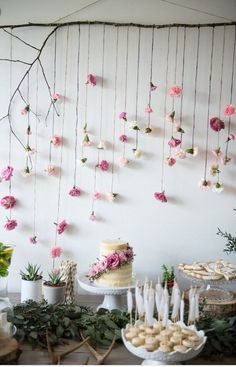 Love the flowers hanging - camp decoration