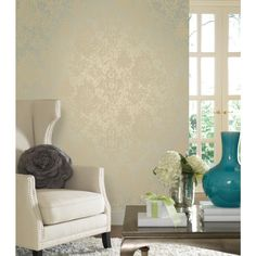 From the Walt Disney Signature brand collection - an unforgettable assortment of modern wallpaper patterns inspired by classic Disney films. Modern Wallpaper Designs, Designer Wallpaper, Wallpaper Patterns, Damask Wallpaper, Room Wallpaper, Wallpaper Ideas, Disney Wallpaper, Grey And Cream Wallpaper, Walt Disney Signature