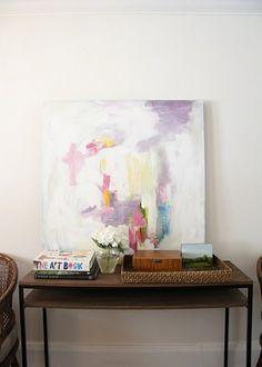 Kreative Wandgestaltung mit abstrakter Kunst -