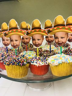First birthday fiesta for my sons first birthday party. Not going to lie, these fiesta cupcakes were the perfect finishing touch to his party. Twin Birthday Parties, 2nd Birthday Party Themes, 1st Boy Birthday, Birthday Cupcakes, Birthday Celebration, Birthday Ideas, Party Cupcakes, Birthday Nails, Mexican Fiesta Birthday Party