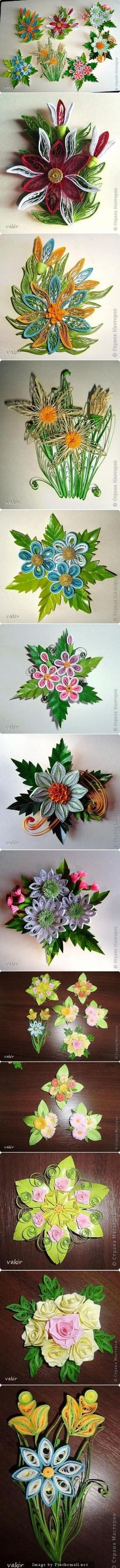 Quilled flowers by Safyre