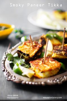 Smoky Paneer Tikka without Tandoor from My Tasty Curry