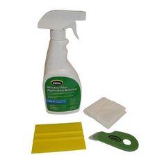 Tool Window Film Application Kit Complete Treatments Hardware Home Lint Cloth #Gila