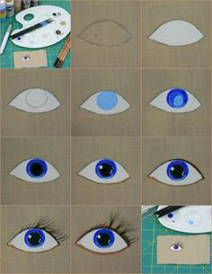 Painting (frightened or startled) Eyes