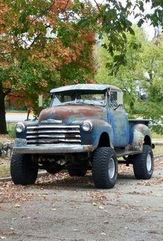 pics of rat rod trucks Diesel Trucks, Custom Trucks, Cool Trucks, Pickup Trucks, Cool Cars, Truck Drivers, Dually Trucks, Custom Cars, Chevy Pickups