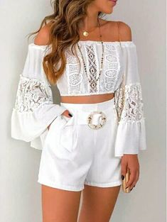 How to wear fall fashion outfits with casual style trends Cute Summer Outfits, Girly Outfits, Stylish Outfits, Spring Outfits, Cute Fashion, Girl Fashion, Fashion Outfits, Womens Fashion, Fashion Shorts