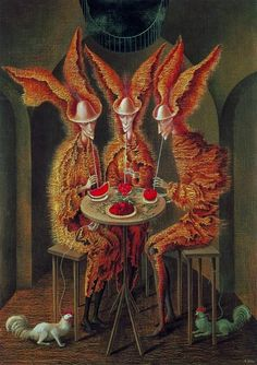 Vegetarian Vampires, 1962 by Remedios Varo (Spanish/Mexican 1908-1963)