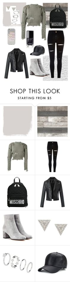 """anti social club"" by oliver27 on Polyvore featuring adidas Originals, River Island, Moschino, Gianvito Rossi and Lizzie Mandler"