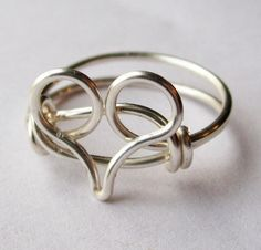 Valentines day Silver Heart Ring Valintine by DistortedEarth, $9.00