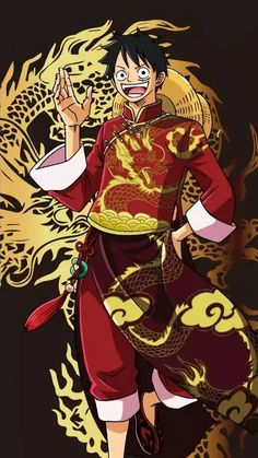 Luffy in traditional Chinese/Japanese outfit One Piece Luffy, One Piece Anime, Anime One, Sunny Go, Chopper, Mugiwara No Luffy, One Piece English, One Piece Tattoos, One Piece Drawing