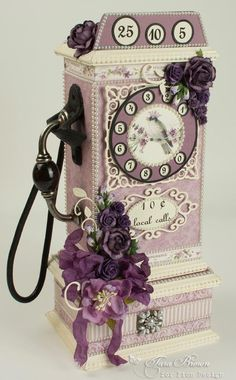A vintage Pay Phone with the Scent of Lavender paper collection