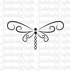 Semicolon Dragonfly by SuddenlyCrafts on Etsy