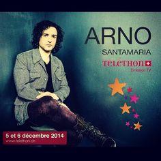 Arno Santamaria participera au Téléthon suisse le 6 décembre prochain.