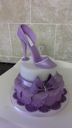 High heel two tier ruffle cake for 18th birthday. Chocolate sponge with chocolate peppermint cream! £75