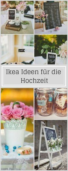 DIY – Ideen & Inspirationen für die Hochzeit von Ikea Wir haben die Top DIY – Ideen & Inspirationen für die Hochzeit von Ikea gesammelt und unten seht ihr, was daraus Schönes werden kann mit ein bisschen Farbe, Liebe und Muse …