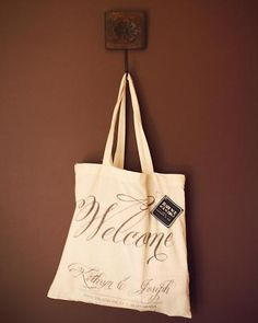 love these bags as welcoming favors for out of town guests.