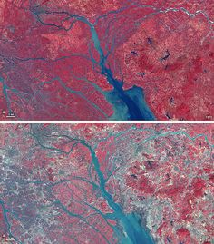Landsat View: Pearl River Delta, China