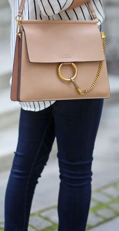 The Perfect Jeans for New York City Days How darling is this bag! Faye Bag, Chloe Bag, Burberry Handbags, Prada Handbags, New York City, Bags Online Shopping, Cute Handbags, Hudson Jeans, Mode Inspiration