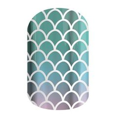 Jamberry Nail Wraps-This wrap combines a scaly pattern, ombré colors, and metallic finish for a unique look <3
