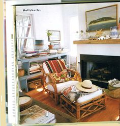 Love this space. Clean and so inviting. Mary Emmerling, Cottages Book
