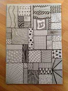 — Jaye January – Sampler – Zentangel – Home crafts Easy Doodle Art, Doodle Art Designs, Doodle Art Drawing, Zentangle Drawings, Mandala Drawing, Doodle Patterns, Pencil Art Drawings, Zentangle Patterns, Cool Art Drawings