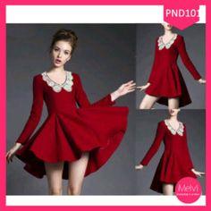 Raddis Dress Lace Mutiara Red Terlaris