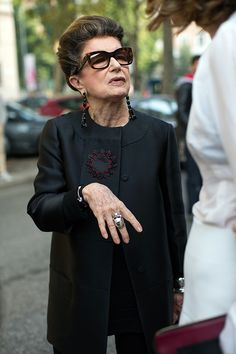 The Sartorialist / On the Street…The Chicest Hair, Milan & Paris