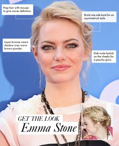 Get The Look: Emma Stone's Daytime Smoky Eye and Braided Updo
