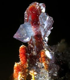 bijoux-et-mineraux:  Scorodite and Carminite - Portugal