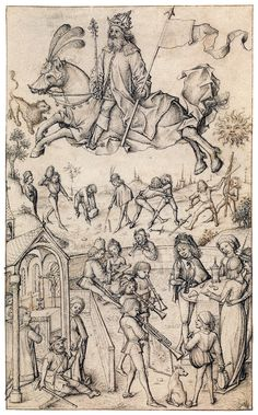 Hausbuch Wolfegg 14r Sol - Master of the Housebook - Wikipedia, the free encyclopedia