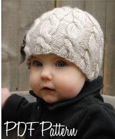 Knitting PATTERN-The Ella Hat Toddler Child Adult sizes
