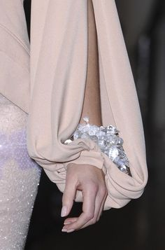 bling...Love this sleeve detail.Imagine this in your wedding colors.